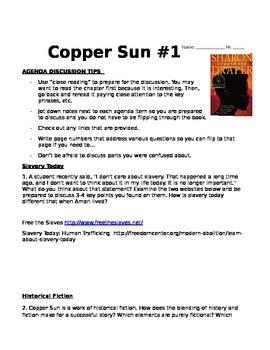 Copper Sun - A Slavery Novel  with Discussion Agendas