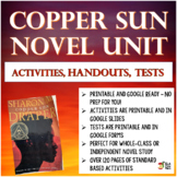 Copper Sun Novel Unit Activities, Handouts, Tests ~Printab
