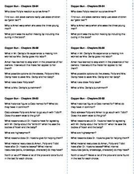 Copper Sun (Sharon Draper) - Lit Circle Discussion Starters, Ch. 23-32
