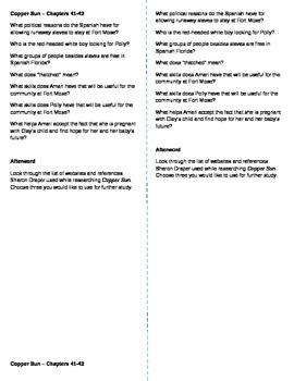 Copper Sun (Sharon Draper) - Lit Circle Discussion Starter