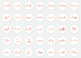 Copper & White Instagram Story Highlight Icons, Copper Hand Lettered Icons