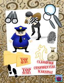 Cops, Robbers and Mystery Clipart plus Digital Paper