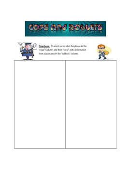 Cops and Robbers Notetaking