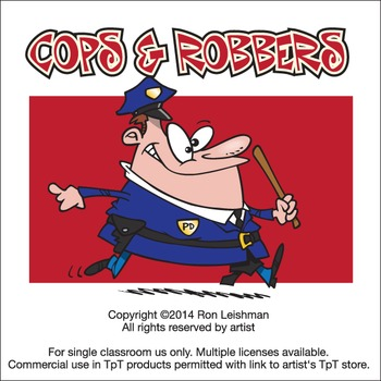 Cops and Robbers cartoon Clipart