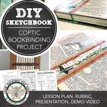 Coptic Sketchbook: Art on a Budget, Make Your Own Sketchbook Project & Video