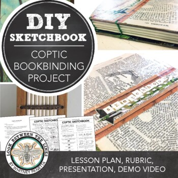 Make Your Own Sketchbook, Coptic Bookbinding, Visual Art Project