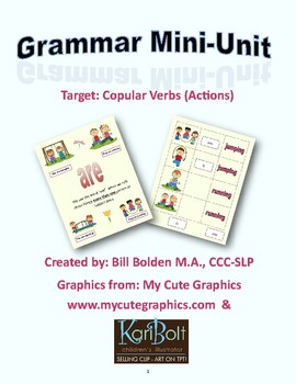 Copular Verbs (is are verbing) Grammar Mini-Lesson - Speech and Language Therapy