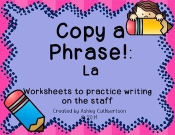 Copy A Phrase!: La
