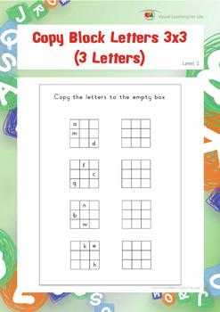Copy Block Letters 3x3 (3 Letters)