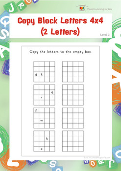 Copy Block Letters 4x4 (2 Letters)