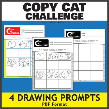 Copy Cat Challenge Drawing Prompts
