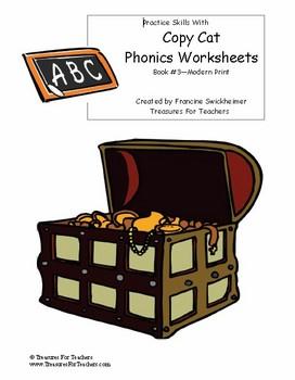Copy Cat Phonics Worksheets - Book 3