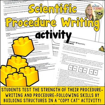 Procedure Writing Activity : Copy Cat : for Science or any subject