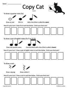 Copy Cat Worksheets