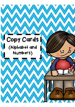 Copy Charts - Alphabet and Nmbers 1-50