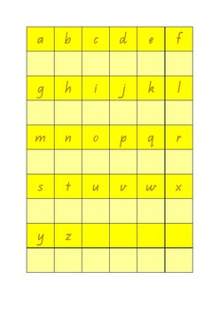 Copy Charts - Alphabet and Numbers 1-50