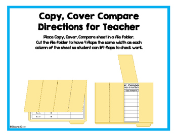 Copy, Cover, Compare - Multiply by 2