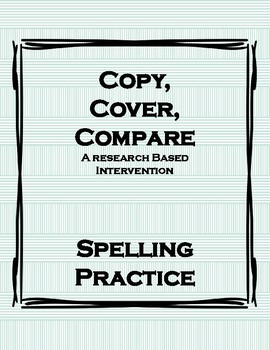 Copy, Cover, Compare (Spelling Practice)