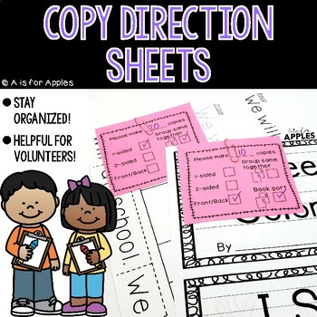 Copy Direction Sheets