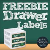 Copy File Grade Sterilite Drawer Labels FREEBIE - Chalkboard Style