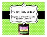 Copy, File, Grade Template
