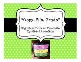 Copy, File, Grade Template