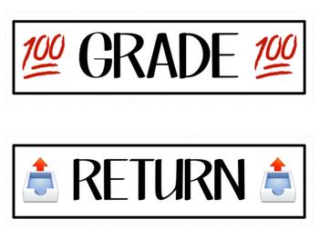 Copy, File, and Grade Bin Labels