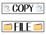 Copy, File, and Grade Bin Labels