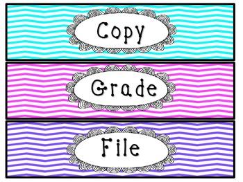 Copy, Grade, File Labels {Freebie}