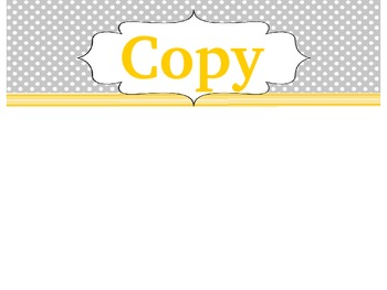 Copy, Grade, File Drawer Labels (EDITABLE) *FREEBIE*