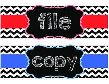 Copy, Grade, File Labels