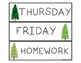 Copy Grade File Labels - Days of the Week - Forest Theme