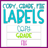 Copy, Grade, File Labels - Four styles!
