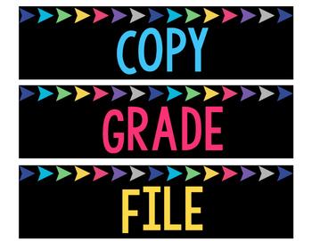 Copy, Grade, File Lables