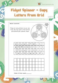 Fidget Spinner - Copy Letters From Grid