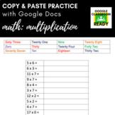 Copy & Paste Practice: Math - Multiplication (Google Version!)