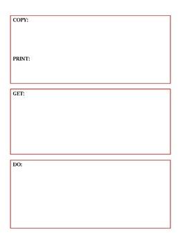 Copy, Print, Get, Do Reminder Sheet for Teachers