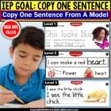 Copy Sentences MONTHS Trace Copy Fill In Blank Fine Motor TASK BOX FILLER