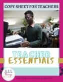 Copy Sheet for Teachers | Teacher Essentials