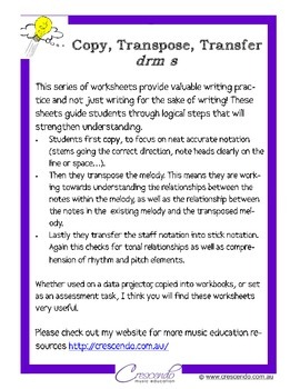 Copy, Transpose, Transfer - drm s set