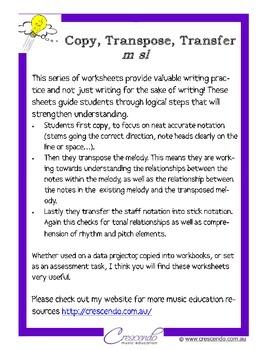 Copy, Transpose, Transfer - m sl set