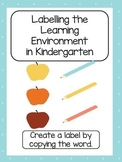 Writing in Learning Centre Label Template