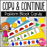 Copy and Continue! Pattern Block Cards