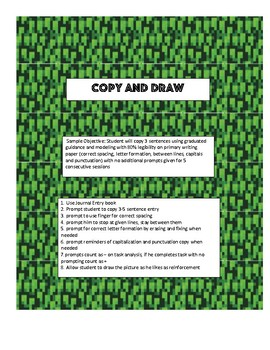 Copy and Draw - Minecraft inspired