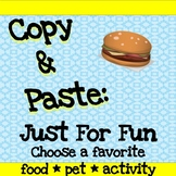 Copy and Paste Practice & More!