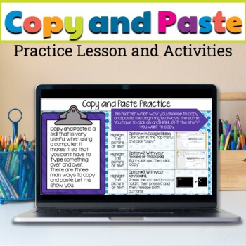 Copy and Paste Practice in Google Slides