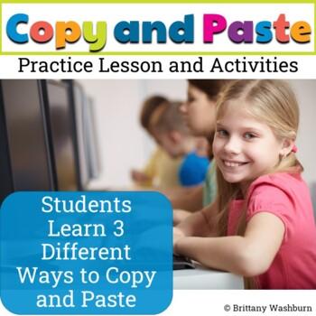 Copy and Paste Practice Digital Activities