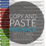 Copy and Paste Writing Feedback - 17 assignments - researc