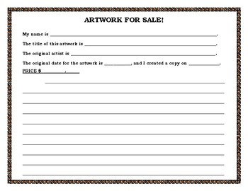 Copy and Sell a Famous Artwork!