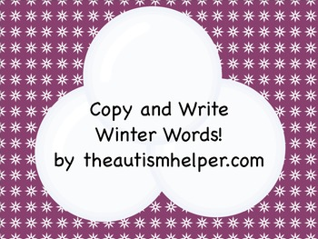 Copy and Write Winter Words!
